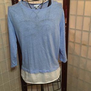 J Jill blue/white Medium blouse